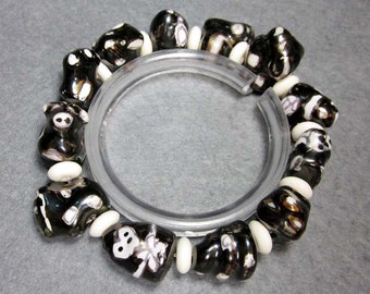 Hand Crafted Zodiac 12 Animals Porcelain Beads Bracelet  T2287
