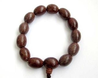 16mm Tian-Mu Bodhi Pu-Ti Rosary Beaded Tibet Buddhist Prayer Beads Mala Bracelet Wrist  T2640