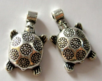 20Pcs Alloy Metal Turtle Pendant Beads Finding  ja183