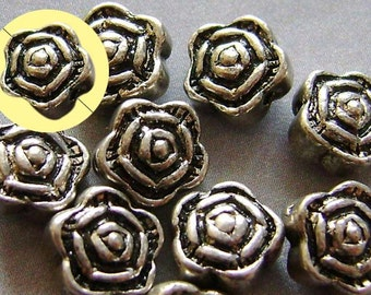 30Pcs Alloy Metal Flower Spacer Beads Finding  ja195