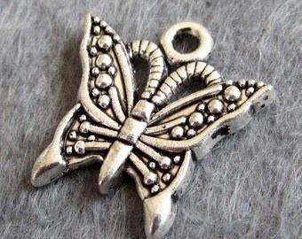 20Pcs Alloy Metal Butterfly Pendant Beads Finding  ja316