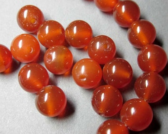 8mm 20Pcs/20Pieces Round Red Agate Gem Gemstone Loose Beads Jewelry Finding For Handwork  ja393