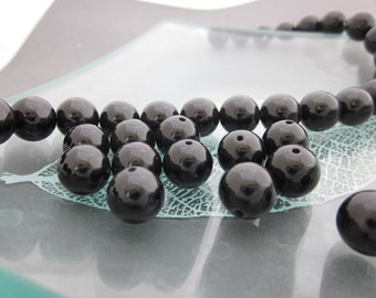 6mm 20Pcs20Pieces Round Black Agate Gem Gemstone Loose Beads Finding For You DIY  ja401