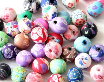 10mm 35Pcs Colorful Buccaro Fine Earthenware Beads Finding For Making Jewelry--35Pieces  ja475