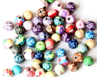 6mm 50Pcs Buccaro Fine Earthenware Beads Finding---50Pieces  ja477