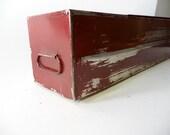 Vintage Red Long Safety Deposit Box