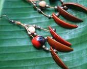 multi seed dangle earrings