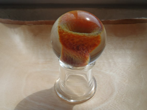 Handblown Glass Marble with glass stand