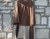 Eco Tunic in Brown and Neutral/ Plus Size Womens/Women Tunic