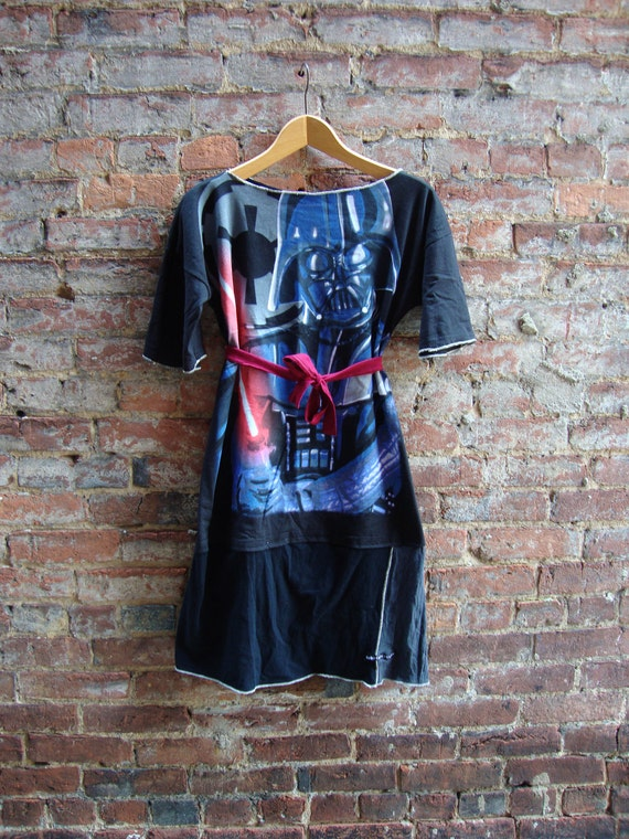 STAR WARS/T Shirt Tunic Dress/ Empire Strikes Back/ Kitsch Sci Fi Dress/ Womens Dress