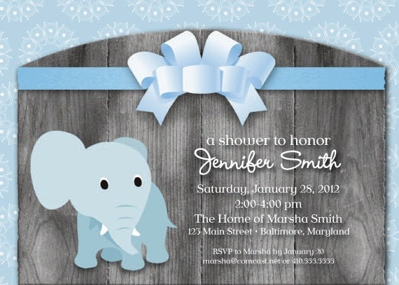 Elephant Themed Baby Shower Invitations correctly perfect ideas for your invitation layout