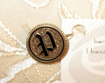 Be Passionate...  Antique Victorian Taille d'Epergne Pin with Letter P