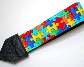 Camera Wrist Strap - Autism Mom - Autism Awareness - DSLR Camera Strap - Gifts for Photographer Birthday - Nikon Camera -  READY to SHIP
