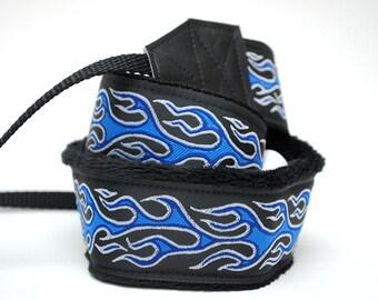 Mens Camera Strap - DSLR Camera Strap - Nikon Camera Strap - Mens Camera Gifts - Canon Camera Strap - Photographer Gift - Blue Flames