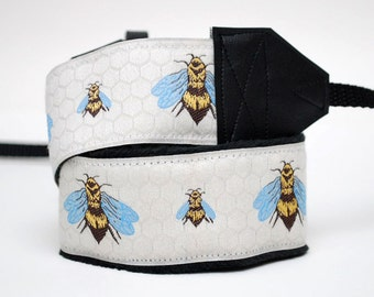 Camera Strap - Bee Accessories - DSLR Camera Strap - Camera Accessories - Gifts for Photographer - Birthday Gift - American Honey