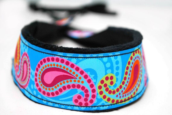 Camera Strap- Pretty in Paisley (pink, blue, green, orange)