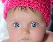 Double Pom Pom hat- great for photo prop