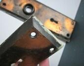 Pair of Copper Door Plates