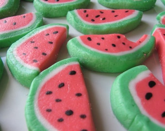 SLICED WATERMELON MINTS - 6 Dozen (72) Cream Cheese Mints