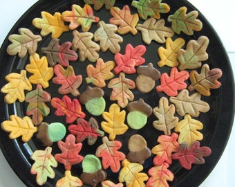 Fall Leaves and Acorns -  6 dozen (72)  cream cheese mints