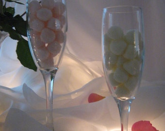 CHAMPAGNE BUBBLES  - 100 Mints for Weddings, Bridal Showers, Special Occasions, Celebrations, Anniversary