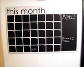 Chalkboard Calendar- Black