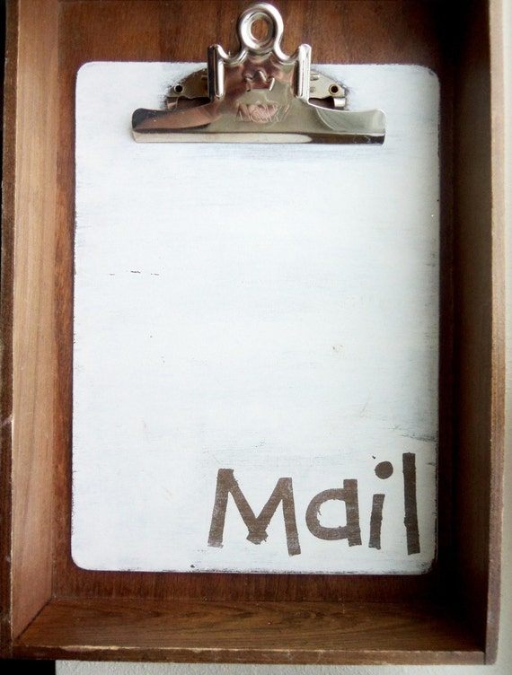 Mail Clipboard- brown with white surround