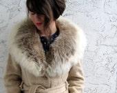 25% OFF SALE Class Act Fur Trim Mohair Coat