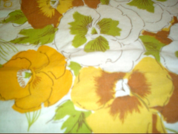 Feed sack flowers pansies supplies sewing fabric vintage fabric