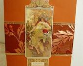 Alphonse Mucha Automne Fall Autumn All Occasion Handmade Card