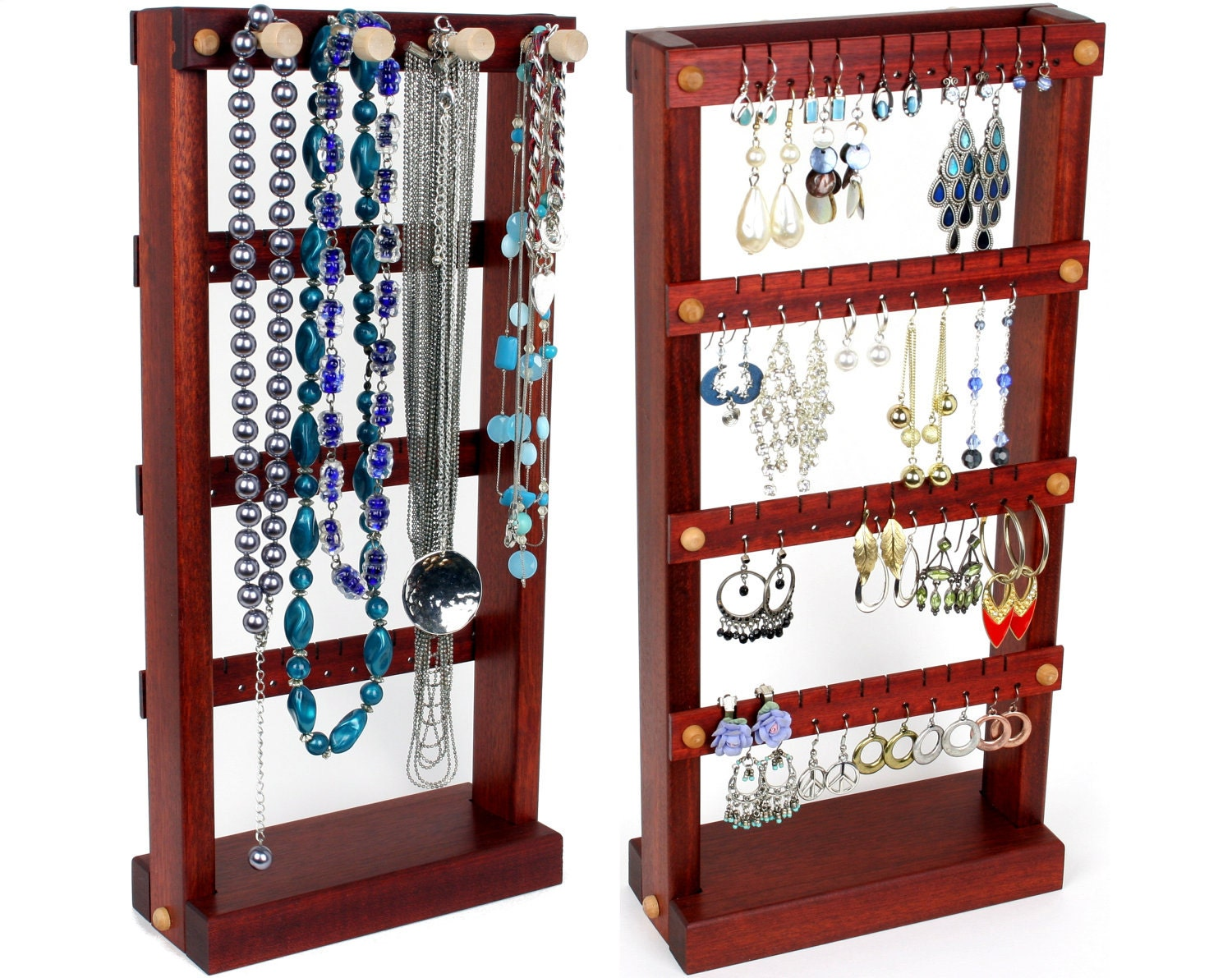 jewelry display stand jewelry holder bloodwood wood. Black Bedroom Furniture Sets. Home Design Ideas