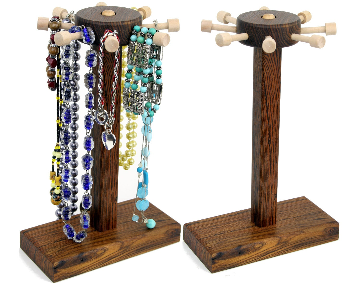 spinning jewelry display necklace bracelet holder stand