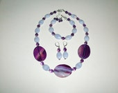 amethyst and agate jewelry set