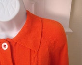 ON RESERVE for softfuzzyears A Tangerine Button Front Collared Cardigan.
