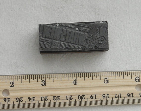 Vintage Letterpress Block Retro Newspaper Extra Attention Grabber