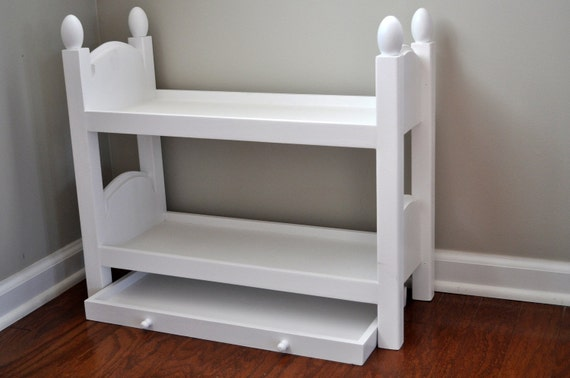 Bunk Bed with trundle for American Girl Dolls or baby doll up to 21inch
