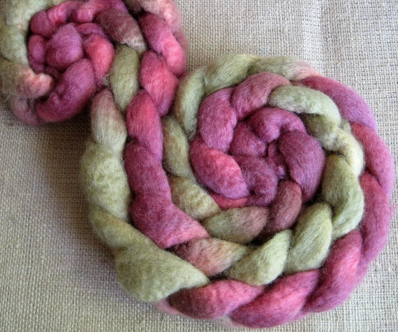 Arthur Weasley - BFL Fiber for Spinning or Felting - Hand Dyed Roving 4.2 oz