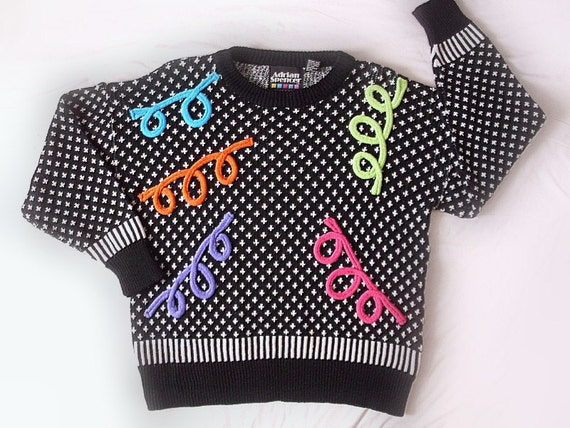 Vintage Ugly Sweater- Squiggle & Giggle