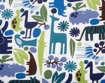 Alexander Henry 2 D Zoo - POOL - Cotton Quilting Fabric BTY