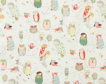 Spotted Owl Natural - Alexander Henry - Fabric - BTY