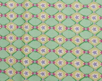 Felicity Miller - Harlequin Star - Westminster Fibers Cotton Fabric - 1 yard - Last Piece