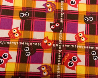 Owls Plaid Flannel
