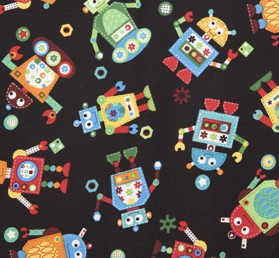 Robot fabric 1 yard for Robot quilt fabric