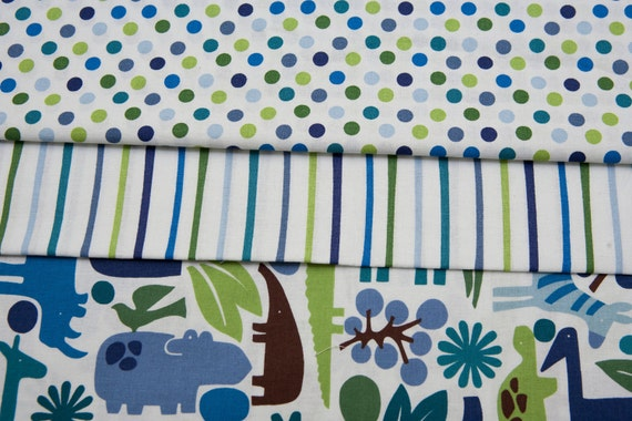 Reserved - Alexander Henry 2 D Zoo - POOL - Fabric Bundle