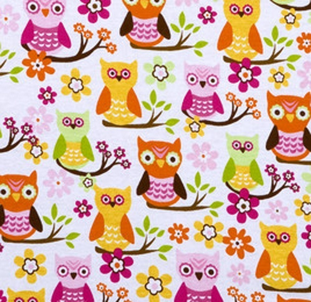 Sweet owl cotton quilting fabric 1 yard for Cotton quilting fabric