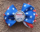 "All American 4"" Patrotic Hair Bow"