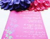Modern Bridal Shower Invitation - Courtney Style - Purchase deposit to get started