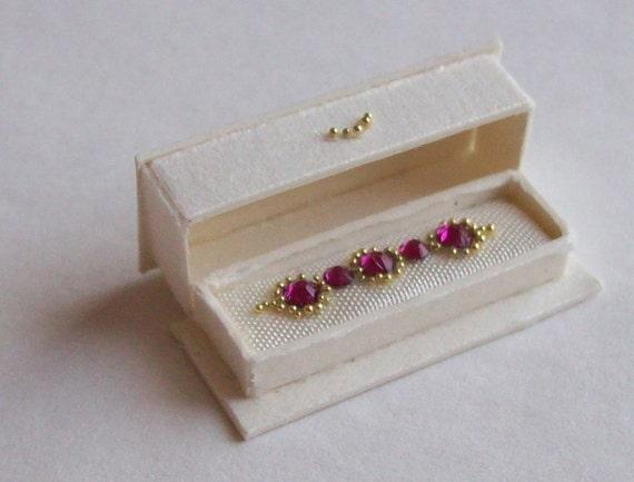Handmade miniature dolhouse 1/12scale bracelet in open box