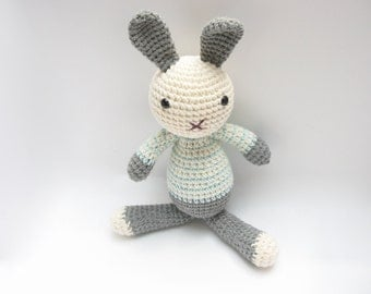 Easter Rabbit Toy, Soft Bunny Toy, Easter Bunny, Stuffed Plush Bunny, Easter Gift for Kids, Amigurumi Bunny