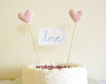 Wedding Cake Topper, Love Cake Topper, Love Sign Cake Topper, Pink Wedding Decor